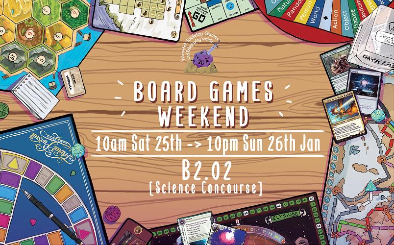 Board Games Weekend Jan 2020 Poster