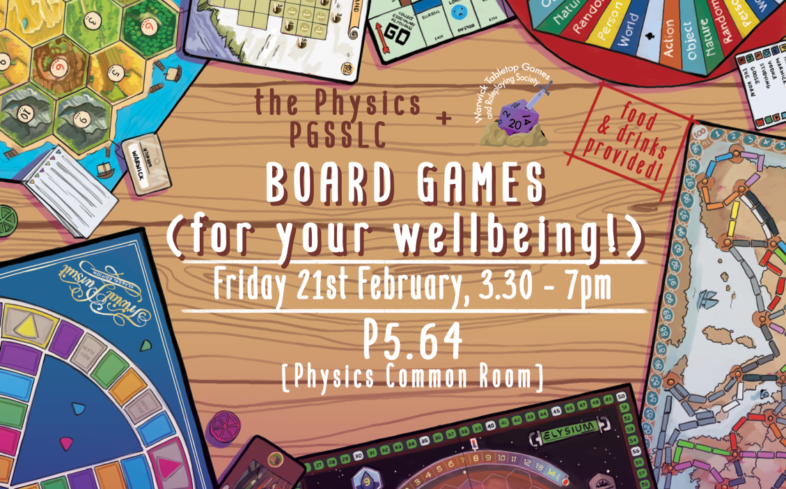 Wellbeing Boardgames Poster