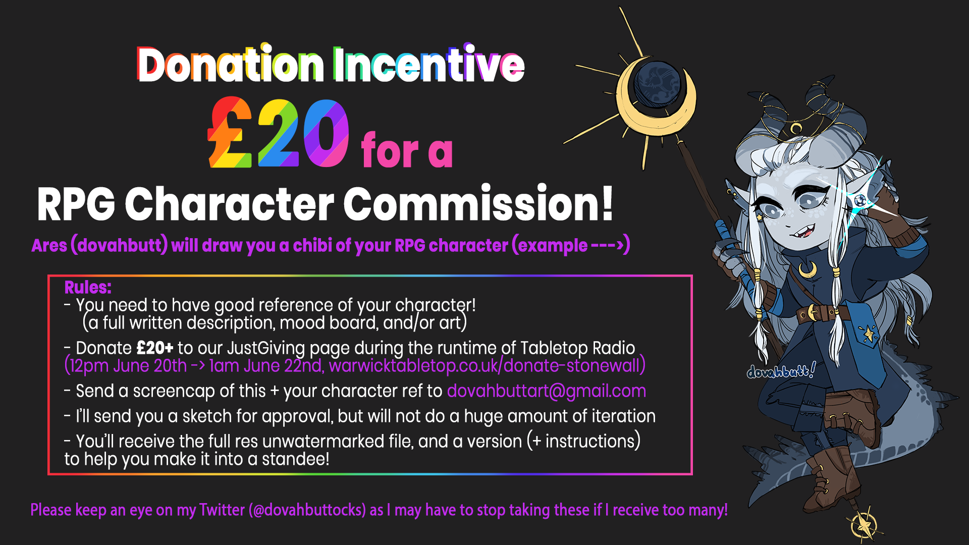 Tabletop Radio Donation Commissions