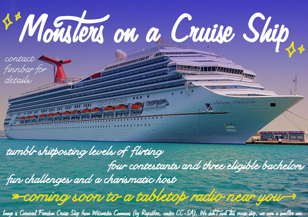 Monsters on a Cruise Ship Ad by Finnbar