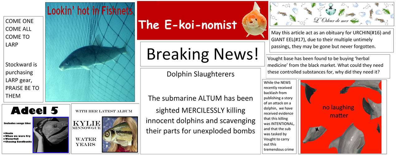 Highlights of The Ekoinomist, the Appalachian Trench's hourly newspaper