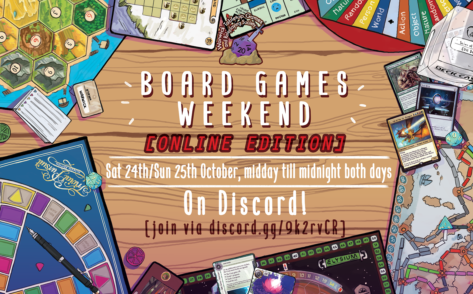 T1W3 board game weekend graphic