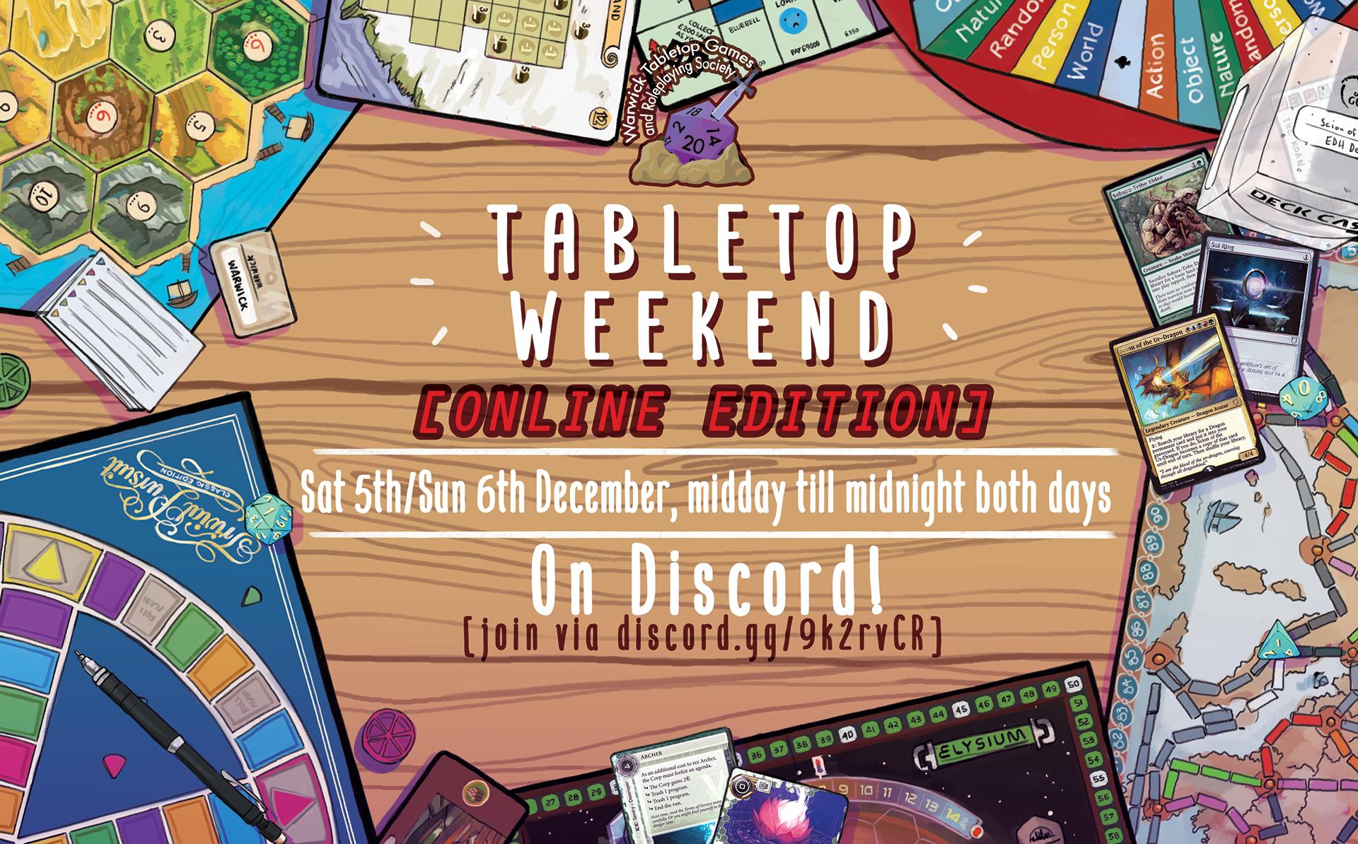 Tabletop Weekend Poster