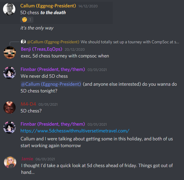 5d chess journey pt 1 the discussions