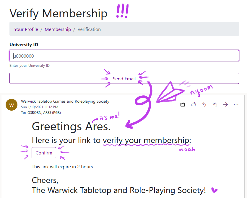 verify your membership, wow