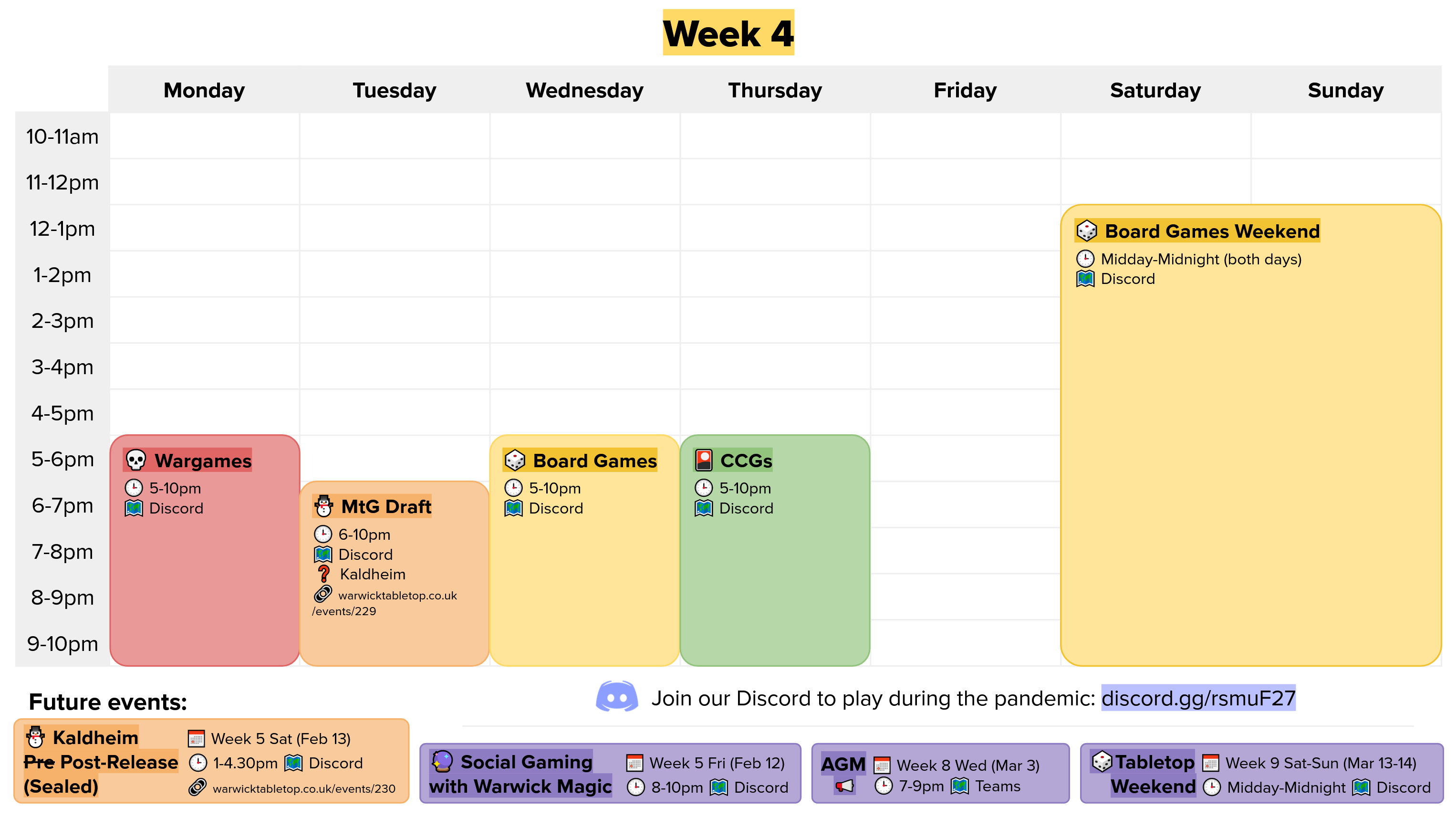 week 4 calendar graphic