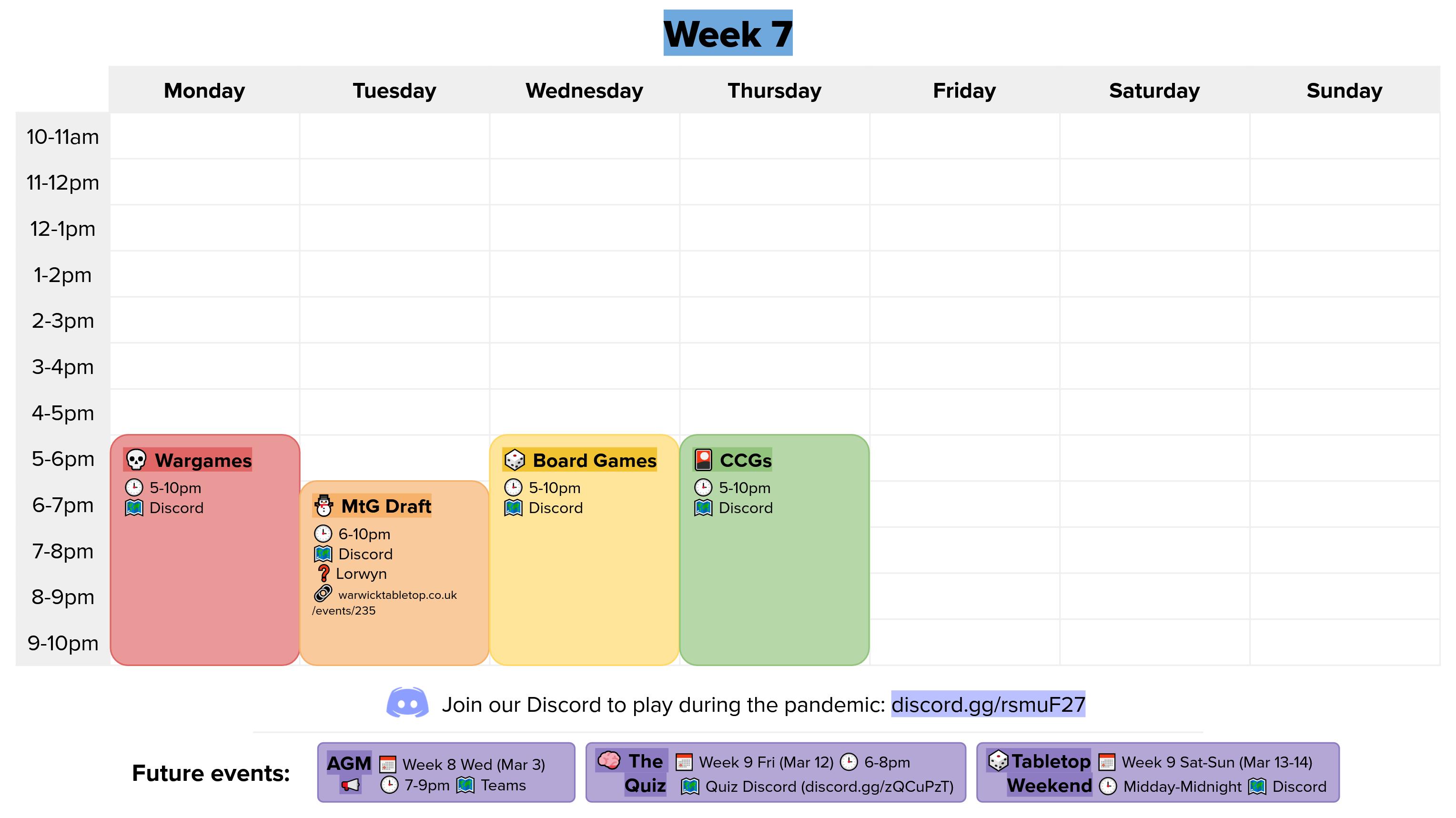 week x calendar graphic