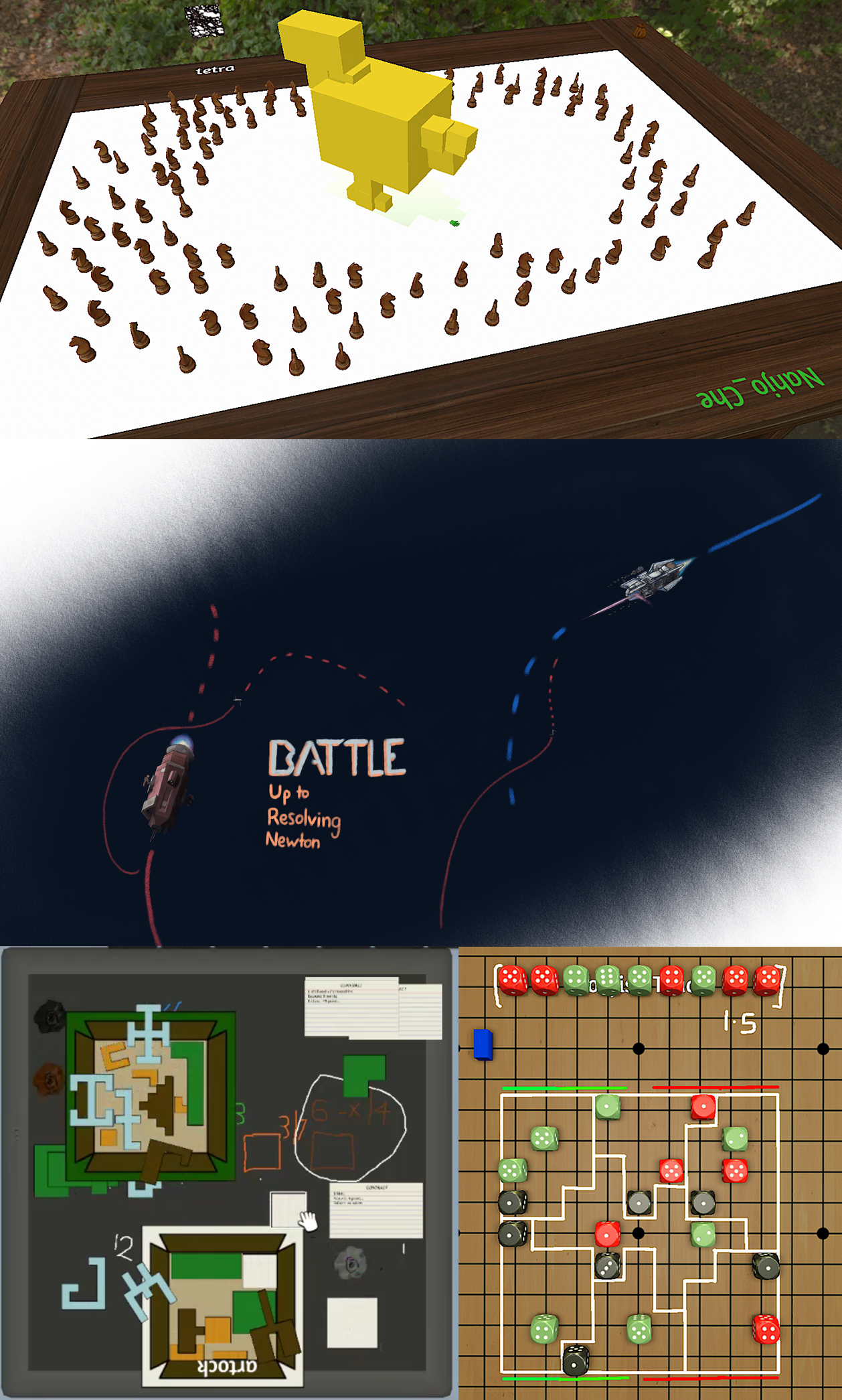 screenshots of the games designed at our collab with game design