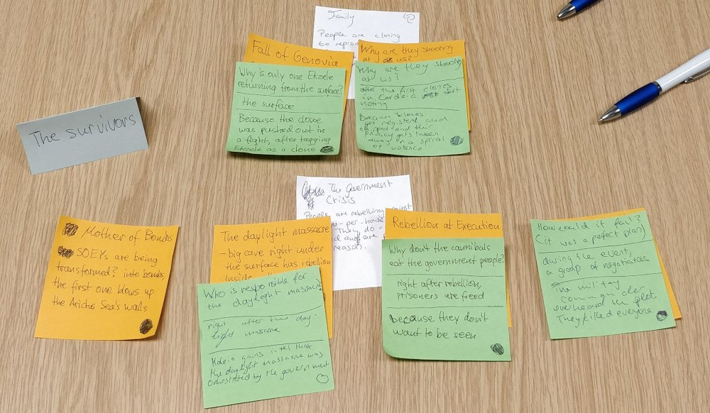 Microscope post-it notes