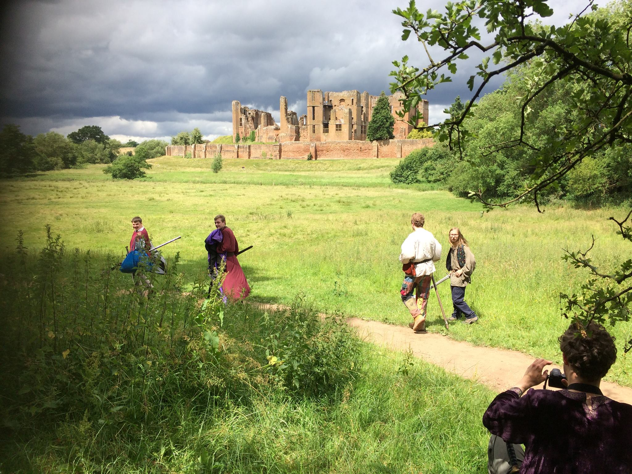 Kenilworth Castle looks on.